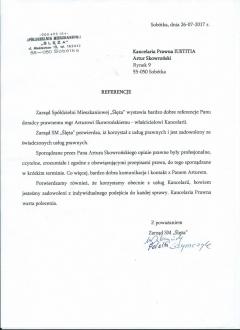 """Referencja od """"SM Ślęża"""""""