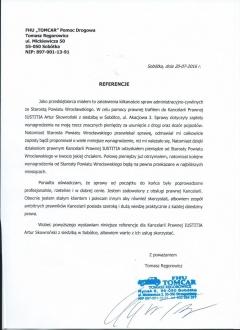 Referencja od Tomasza Ręgorowicza